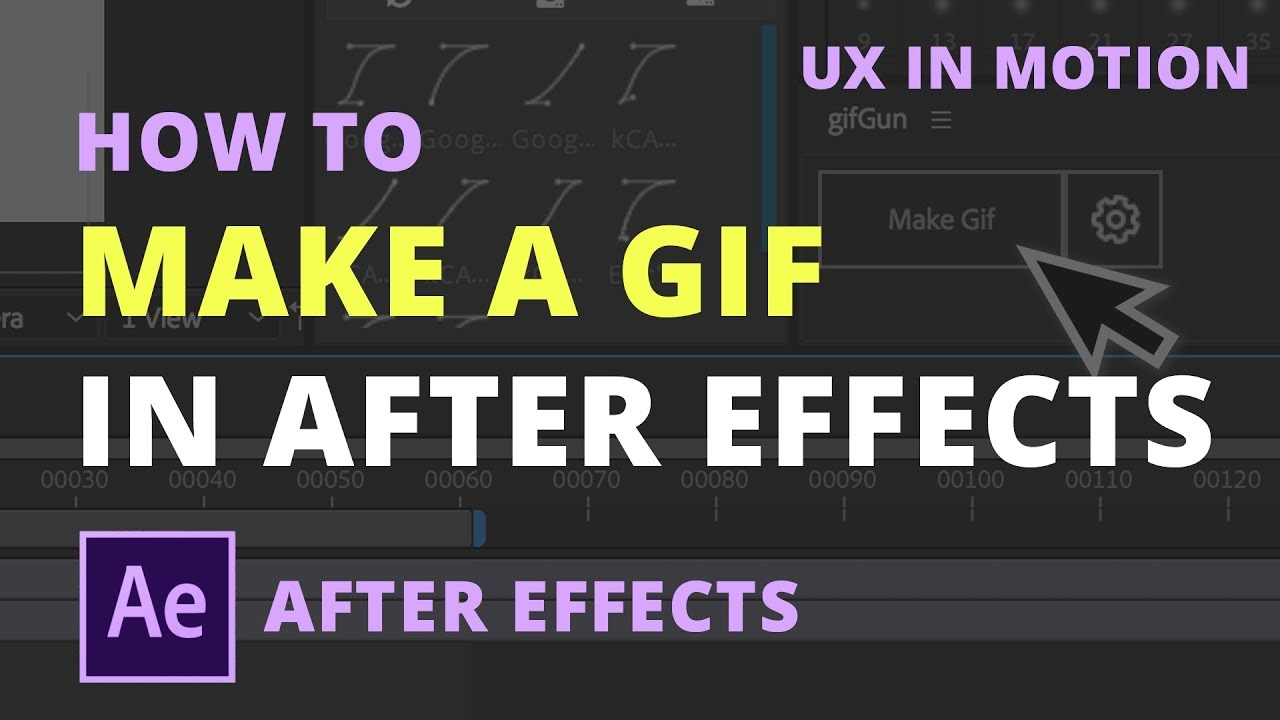 How to make a GIF in After Effects