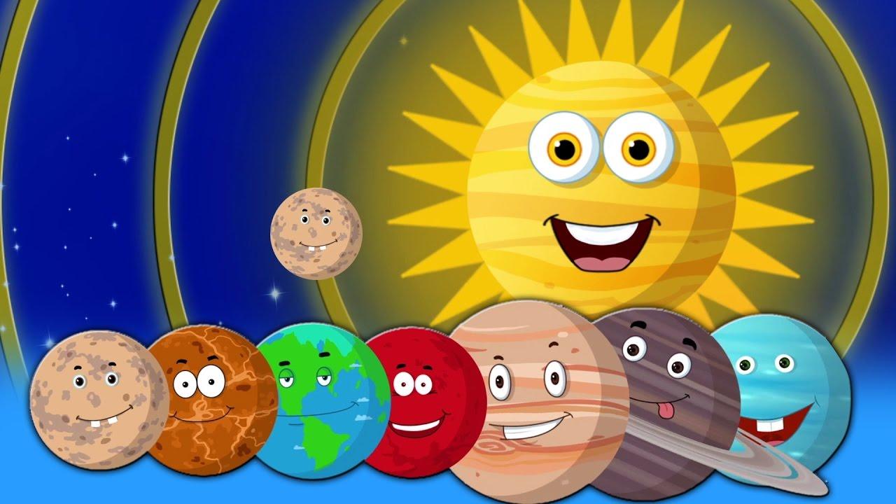 Chanson des planètes   Chanson de la maternelle   Rimes d'enfants   Planets Song For Children
