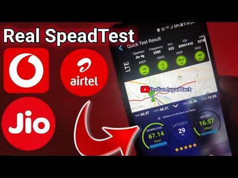 Jio 4G Speed Vs Airtel 4G Speed Vs Vodafone 4G Speed | Full Speed Test comparison