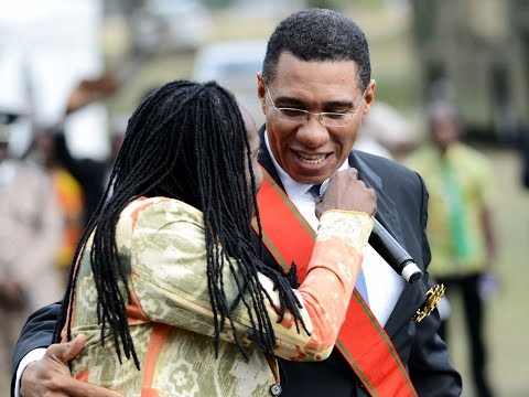 My Dream! Prime Minister Andrew Holness performs with Nesbeth