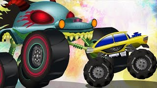 The Mysterious Map | Haunted House Monster Truck Videos | Car Cartoons For Kids