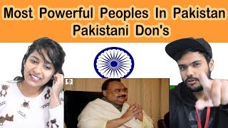 Indian reaction on Most Powerful Peoples In Pakistan | Pakistani Don's | Swaggy d