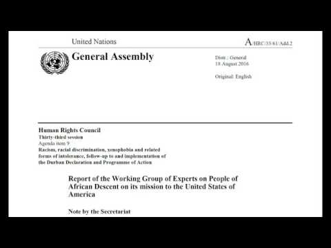 American Negro Slavery Reparations : UN REPORT THE U S  OWES REPARATIONS FOR SLAVERY!
