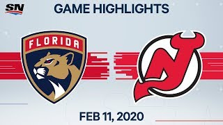 NHL Highlights | Panthers vs. Devils - Feb. 11, 2020