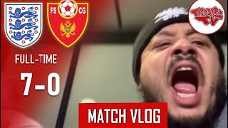 England 7-0 Montenegro | Matchday Vlog | England Qualify In Style For Euro 2020!!