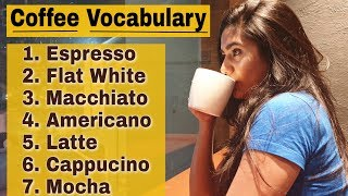 Coffee Vocabulary : All Types of Coffee with Meaning & Pronunciation in Hindi