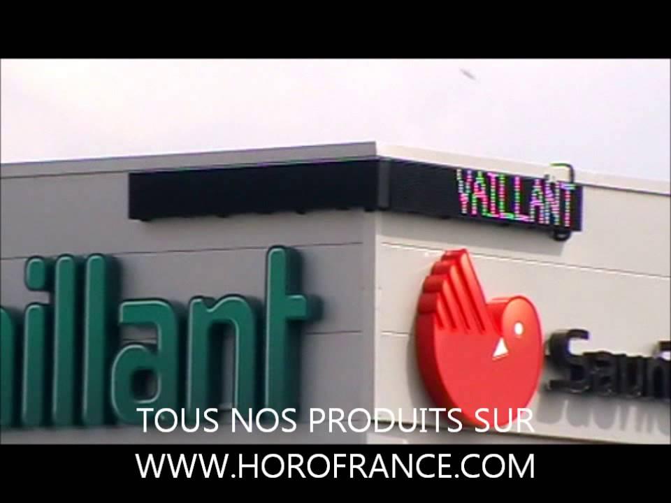 Afficheur a leds blanches saunier duval groupe vaillant - Saunier duval nantes ...