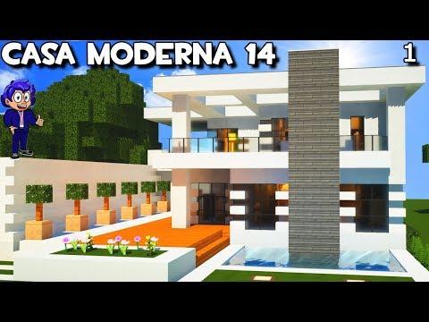 Casa moderna 14 con garaje y piscina en minecraft for Casa moderna minecraft mirote y blancana