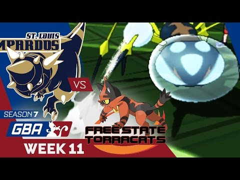 THE TRUTH...! St. Louis Rampardos VS Free State Torracats Week 11 GBA S7 | Pokemon Sun Moon WiFi