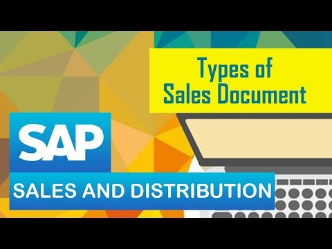Types of Sales Documents in SAP SD | SAP Sales & Distribution Module