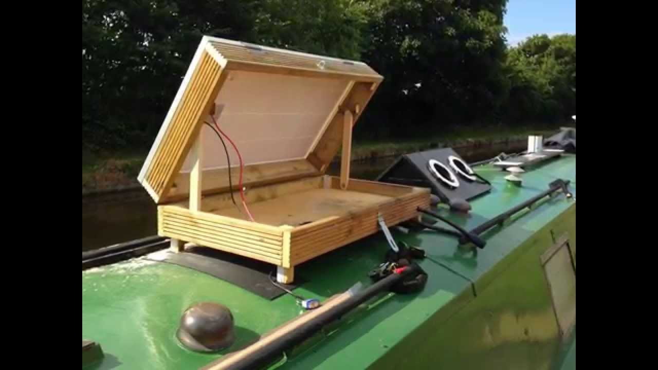 Narrowboat How To Make Solar Panel Box Youtube