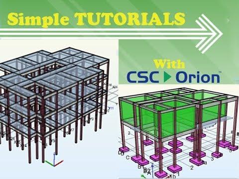 Download CSC ORION structural Analysis design/AutoCad - TUTORIAL tricks
