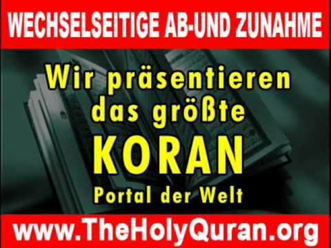 Deutsche Koran Wechselseitige Ab- und Zunahme
