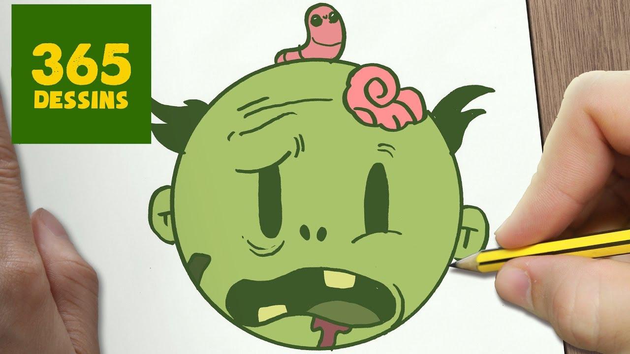 Comment dessiner zombie kawaii tape par tape dessins - Comment dessiner un zombie ...