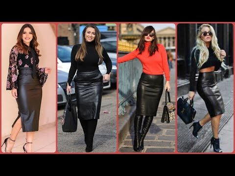 Most Stylish And Fashionable Leather Skirts Outfits Idea's