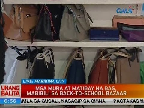 UB: Mga mura at matibay na bag, mabibili sa back-to-school bazaar