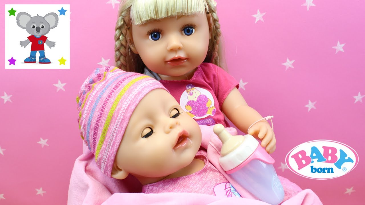 Mu 241 Eca Baby Born Que Cuida De Su Hermanita Beb 233 Reci 233 N