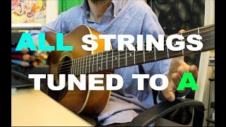 all strings tuned to a - ben levin