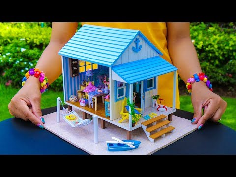 DIY Miniature Frozen Elsa Doll House (Beach House)