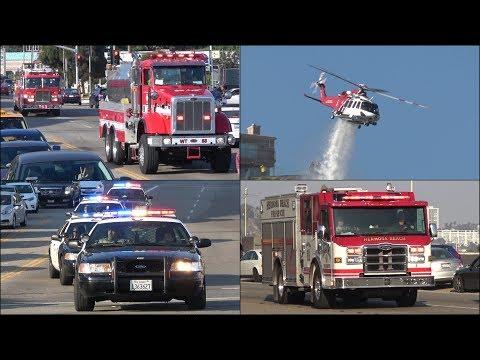 Fire trucks, Police cars & Ambulances responding - BEST OF JUNE 2017 - Siren, horn & action