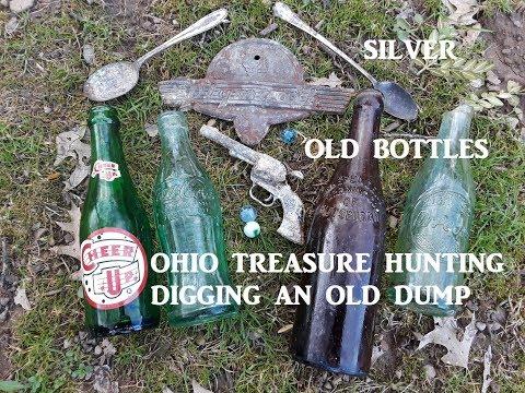 OHIO Treasure Hunting Bottle DIGGING OLD DUMP SILVER & MORE
