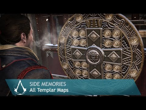Assassin's Creed: Rogue - Side Memories - All Templar Maps