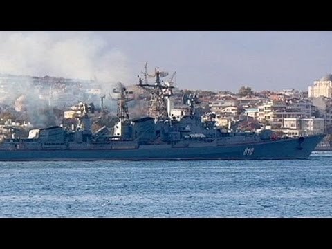 Russian navy pours south through Bosphorus