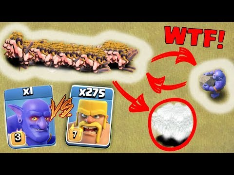 275 BARBARIAN vs 1 MAX BOWLER - CLASH OF CLANS | WHO WINS ? | SHOCKING RESULT! | COC TROOPS BATTLE!