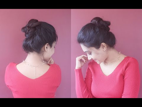 how-to-do-puffed-top-knot-for-all-day|easy|beginners|asmita