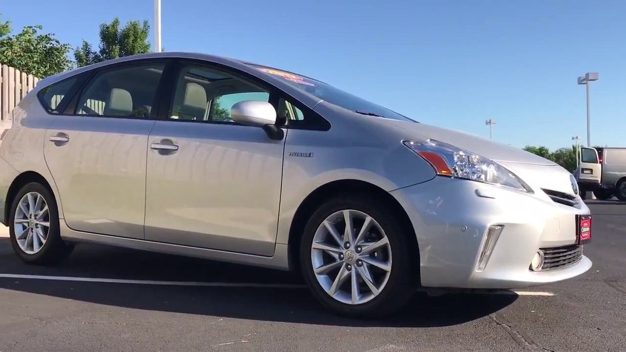 2017 Toyota Prius V Five With Advanced Technology Package Start Up And Walk Around
