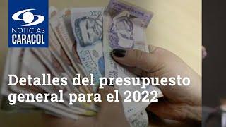 Detalles del presupuesto general para el 2022: entrevista con el ministro de Hacienda