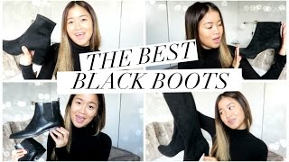 TOP 5 BLACK BOOTS FOR FALL! | rachspeed