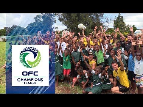 Team Wellington visits Central School in Port Vila  |  2019 OFC CHAMPIONS LEAGUE