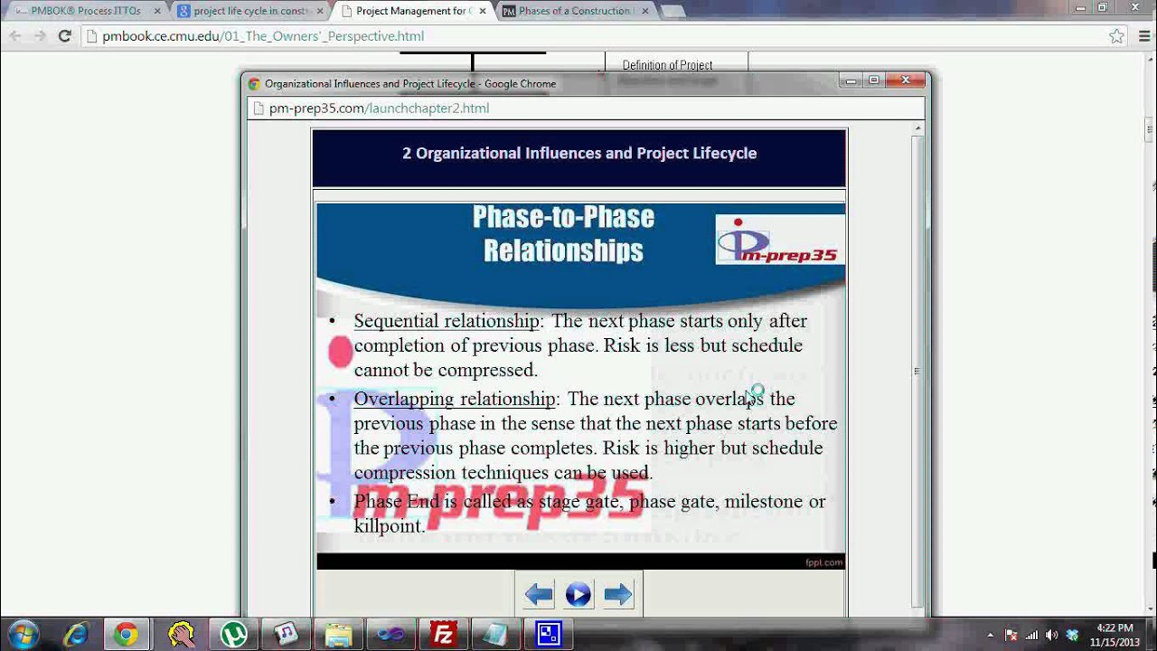 pm-prep35 com - Organizational Influences and Project Lifecycle - Part 1 (6  of 6)