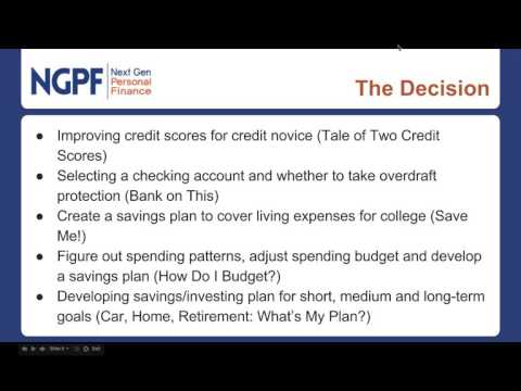 Webinar: Using The Case Study Method to Teach Personal Finance
