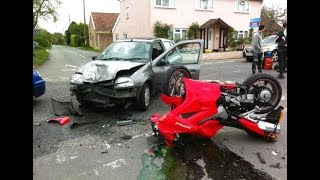 MOTORCYCLE CRASHES ON THE ROAD 🔥 BIKER CRASHING HARD \ COMPILATION [Ep #18]