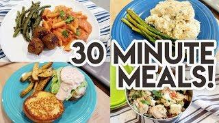 30 MINUTE MEALS! 🕒 WHAT'S FOR DINNER? 🍽 RACHAEL RAY RECIPES 🥗 VODKA CREAM PASTA + LEMON CHICKEN