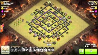 Clash of clans 3 STAR MAXD TH9 war attack, GOWIHO N GOWIPE, 2 REPLAY BACK TO BACK