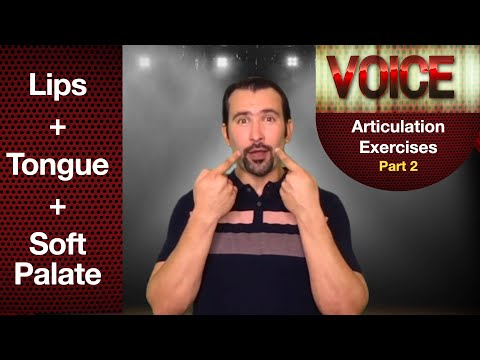 Articulation Exercises: Lips + Tongue + Soft Palate