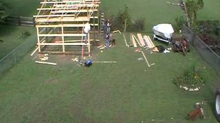 20x24 Pole Barn Part 2