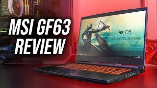 MSI GF63 Gaming Laptop Review
