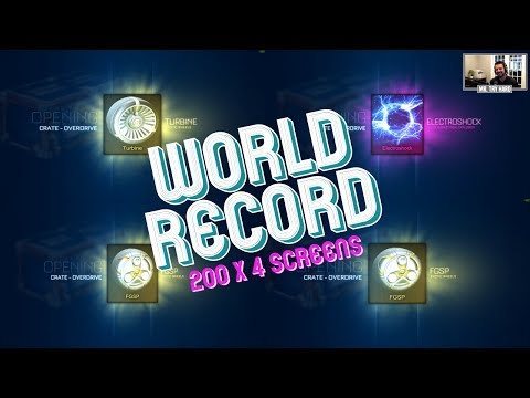 WORLD RECORD | 200 OverDrive Opening On 4 Screens | 5th GOAL EXPLOSION + DOUBLE PAINTED WEEKEND