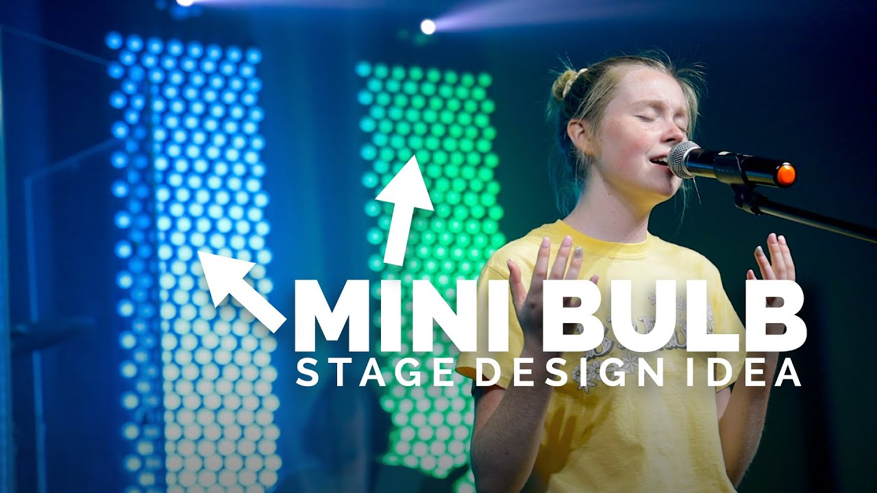 """We Tried to Build This """"Mini Bulb Stage Design"""" in 2 Days"""