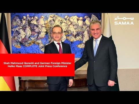 Shah Mehmood Qureshi and German Foreign Minister Heiko Maas COMPLETE Joint Press Conference