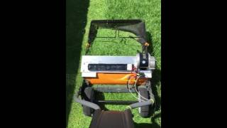 Fiskars electric reel lawn mower