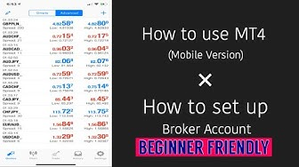 How to Use Mt4 + Set Up A Broker (For Beginners)
