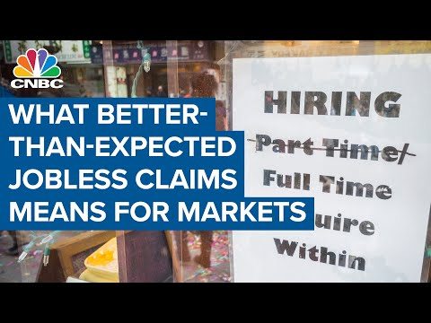 What better-than-expected jobless claims means for markets