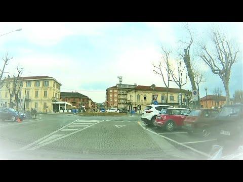 Canelli (AT) giro in Piazza Gancia e Viale Risorgimento - Canelli (Asti, Piemonte - Italy)