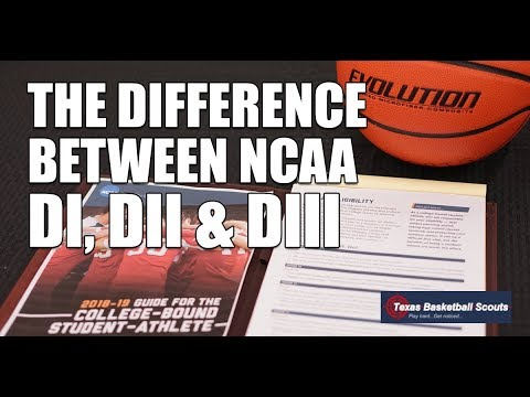College Basketball: The Difference Between NCAA DI, DII & DIII (2018-2019)
