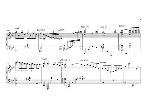 Stella by Starlight. Arranged for solo jazz piano, with music sheet